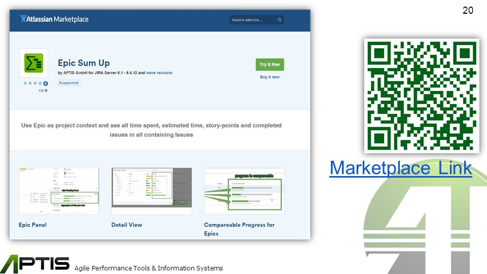 Agile Performance Tools & Information Systems 20 Marketplace Link