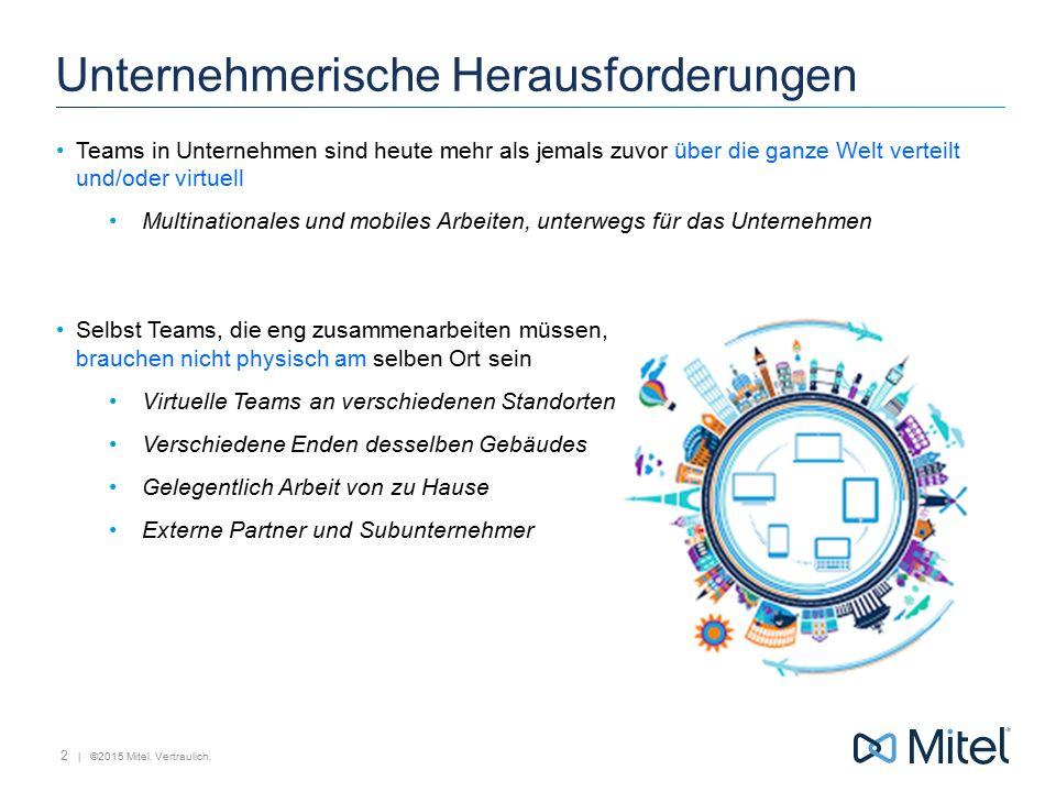   ©2015 Mitel. Vertraulich. Unified Messaging 33