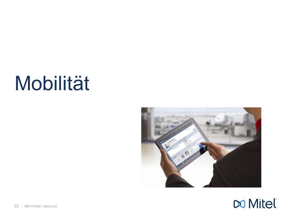   ©2015 Mitel. Vertraulich. Mobilität 22