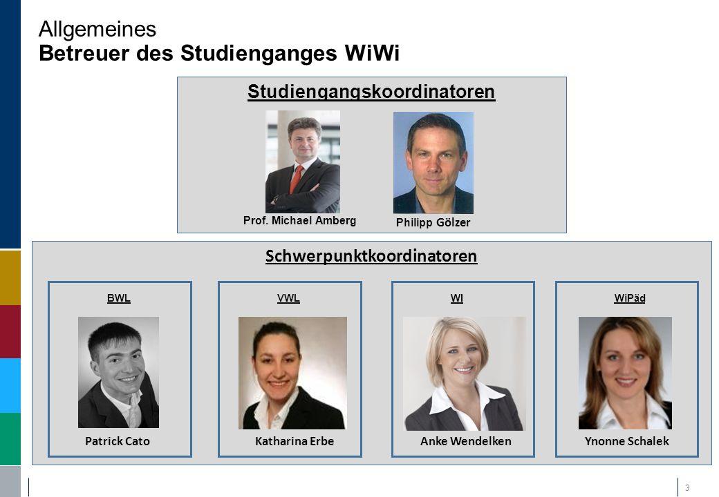 Agenda Thema Allgemeines Schwerpunkt BWL Schwerpunkt VWL Schwerpunkt Wirtschaftsinformatik Wirtschaftspädagogik Beratungsgespräche + informeller Austausch 14