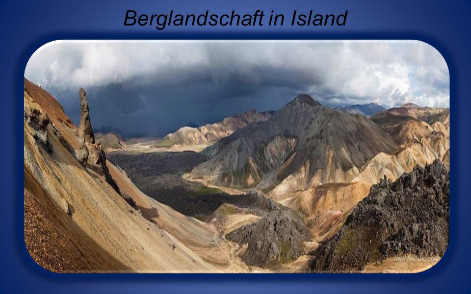 Berglandschaft in Island