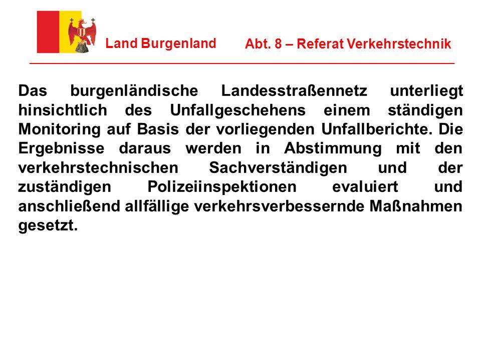 10 Land Burgenland ________________________________________________________________ Abt. 8 – Referat Verkehrstechnik Das burgenländische Landesstraßen