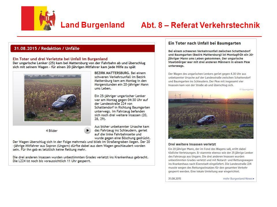 2 Land Burgenland ________________________________________________________________ Abt. 8 – Referat Verkehrstechnik