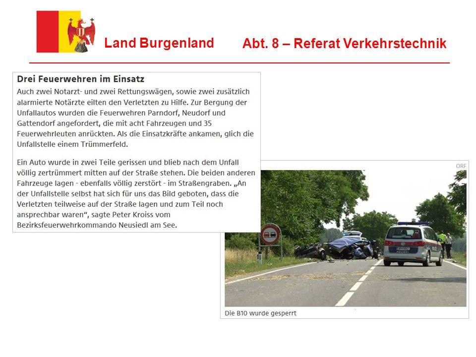4 Land Burgenland ________________________________________________________________ Abt. 8 – Referat Verkehrstechnik