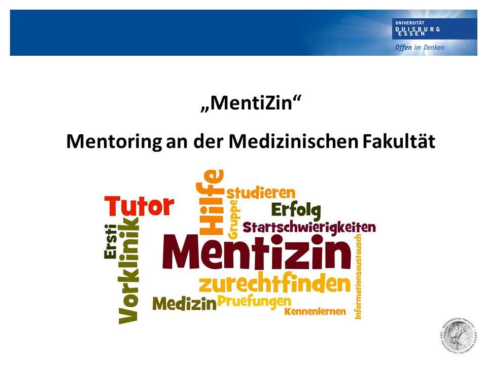 """""""MentiZin"""" Mentoring an der Medizinischen Fakultät"""