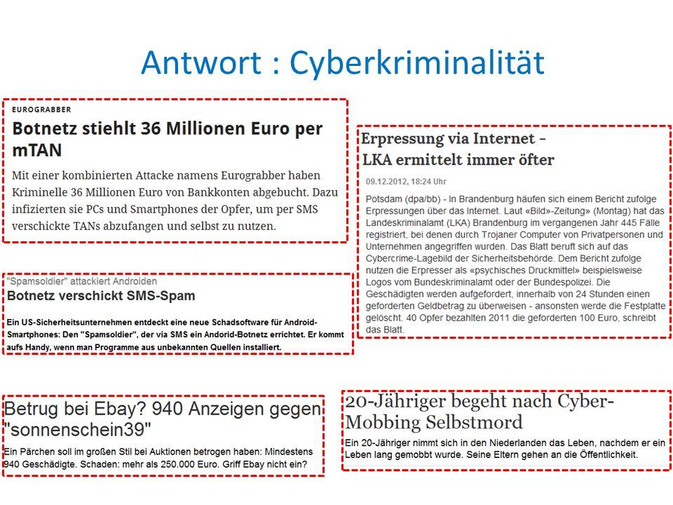Antwort : Cyberkriminalität