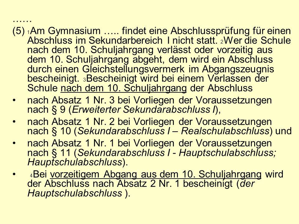 …… (5) 1 Am Gymnasium …..