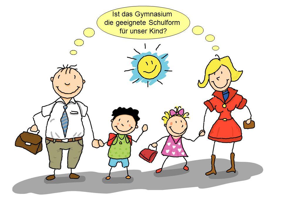 Ist das Gymnasium die geeignete Schulform für unser Kind.