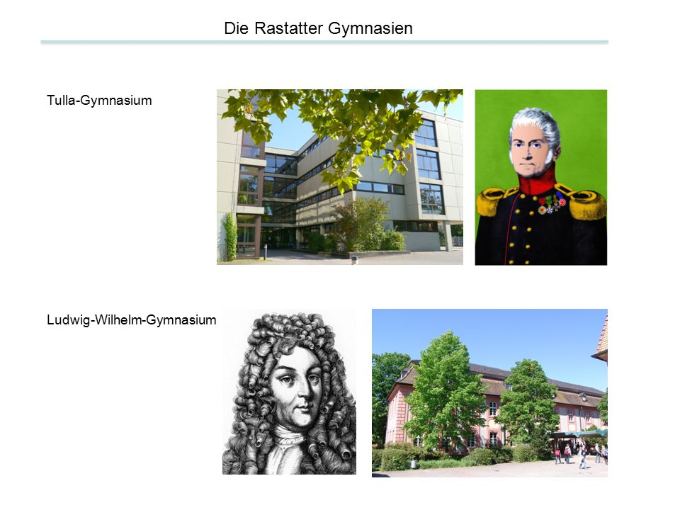 Die Rastatter Gymnasien Tulla-Gymnasium Ludwig-Wilhelm-Gymnasium