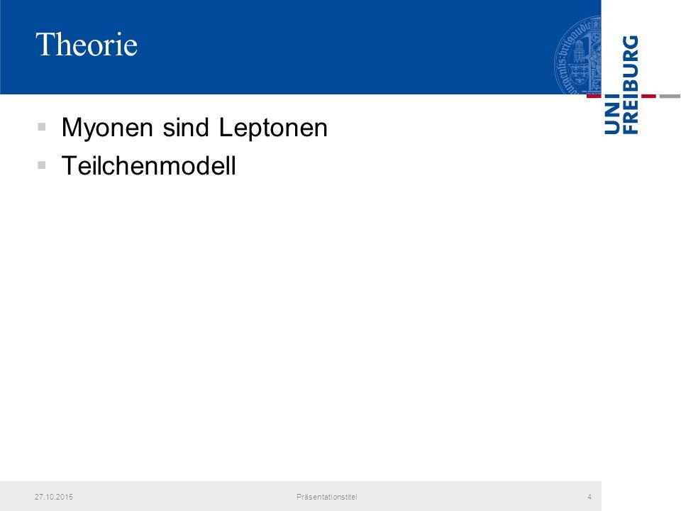 Theorie  Myonen sind Leptonen  Teilchenmodell 27.10.2015Präsentationstitel4