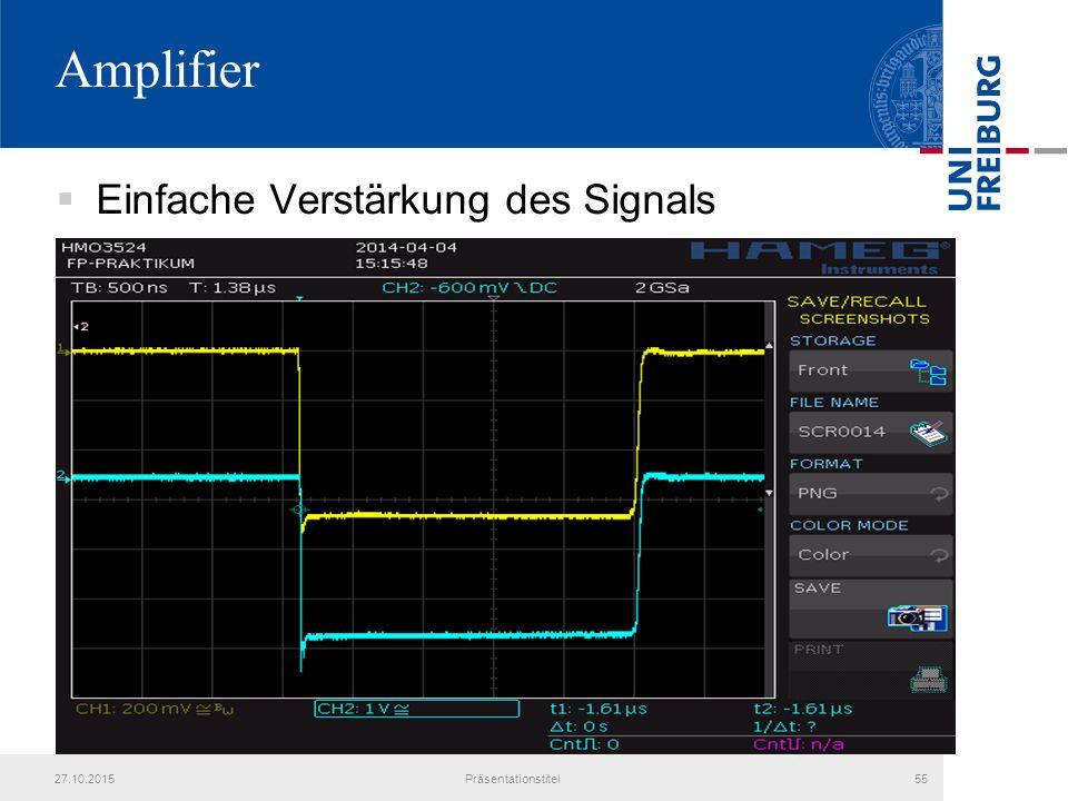 Amplifier  Einfache Verstärkung des Signals 27.10.2015Präsentationstitel55