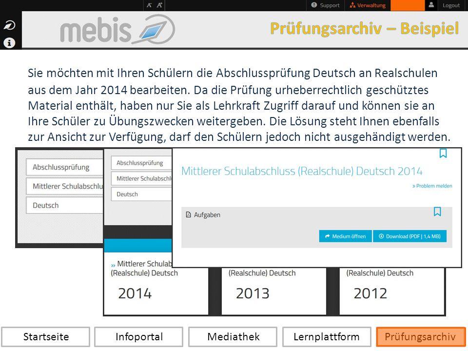 Startseite Infoportal Mediathek LernplattformPrüfungsarchiv Sie möchten mit Ihren Schülern die Abschlussprüfung Deutsch an Realschulen aus dem Jahr 2014 bearbeiten.