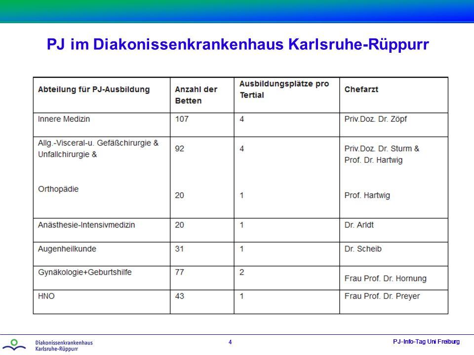 PJ im Diakonissenkrankenhaus Karlsruhe-Rüppurr PJ-Info-Tag Uni Freiburg 4