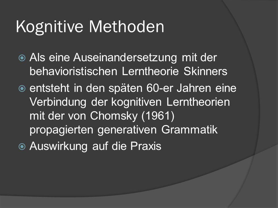 Kommunikative Didaktik  Seit der Mitte der 70er Jahre  Kommunikative Kompetenz = das übergeordnete Ziel  Entwicklung einer pragmatisch- funktionalen Konzeption des FSUs