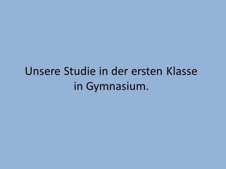 Unsere Studie in der ersten Klasse in Gymnasium.