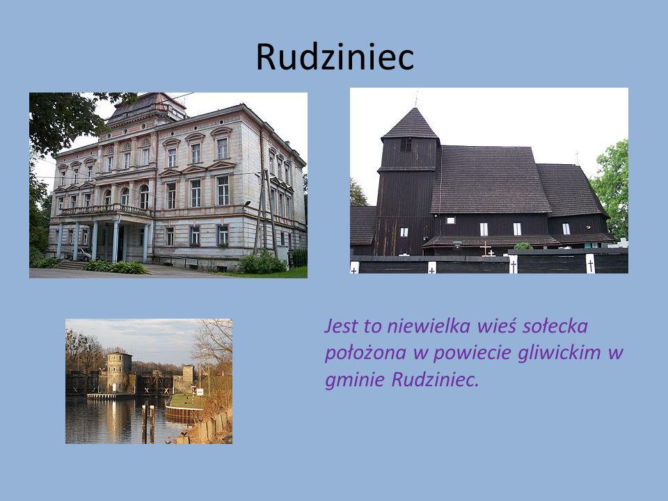 Rudziniec Jest to niewielka wieś sołecka położona w powiecie gliwickim w gminie Rudziniec.