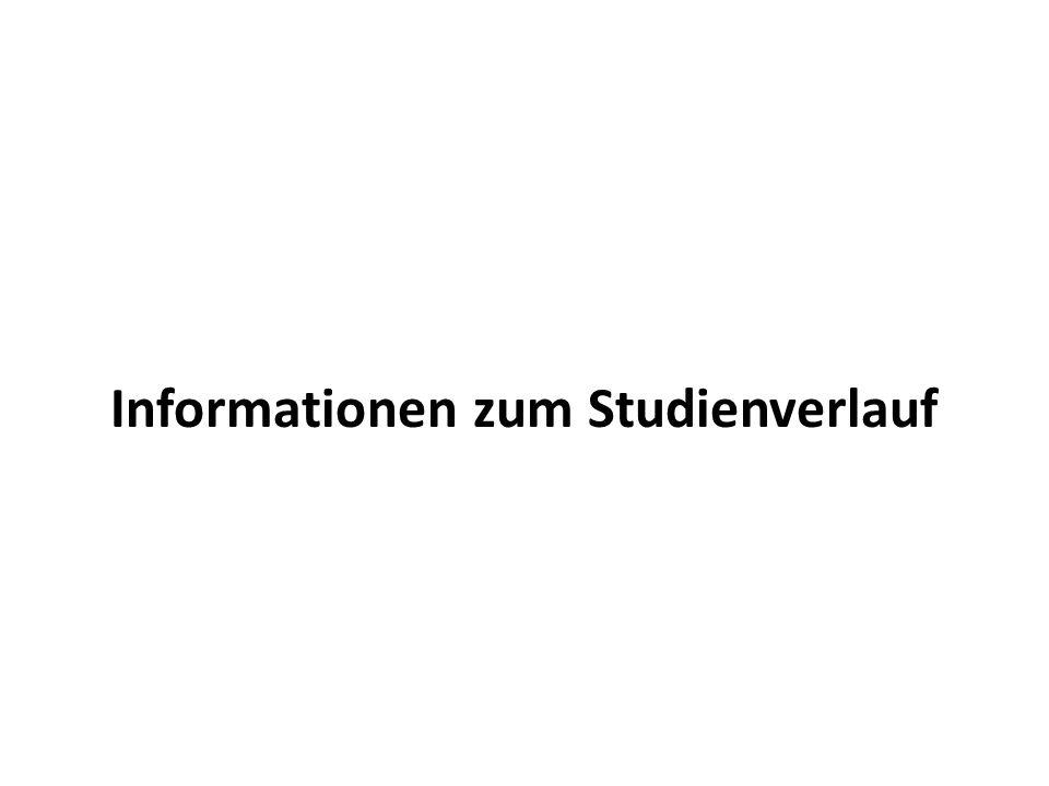 Informationen zum Studienverlauf