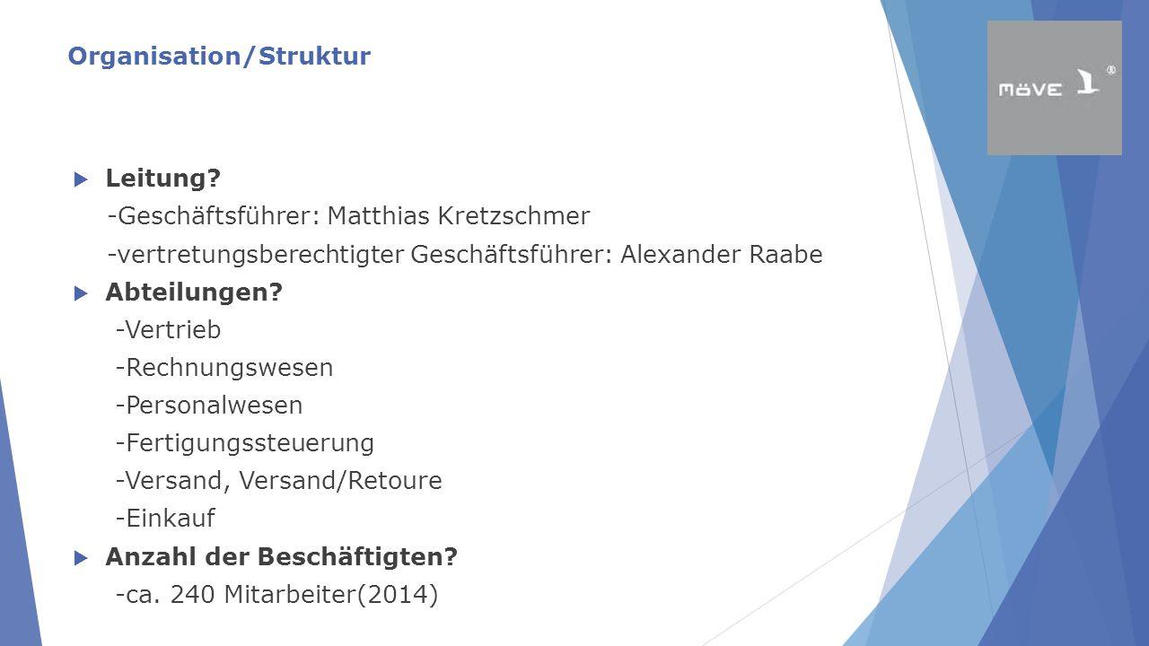 Organisation/Struktur  Leitung? -Geschäftsführer: Matthias Kretzschmer -vertretungsberechtigter Geschäftsführer: Alexander Raabe  Abteilungen? -Vert