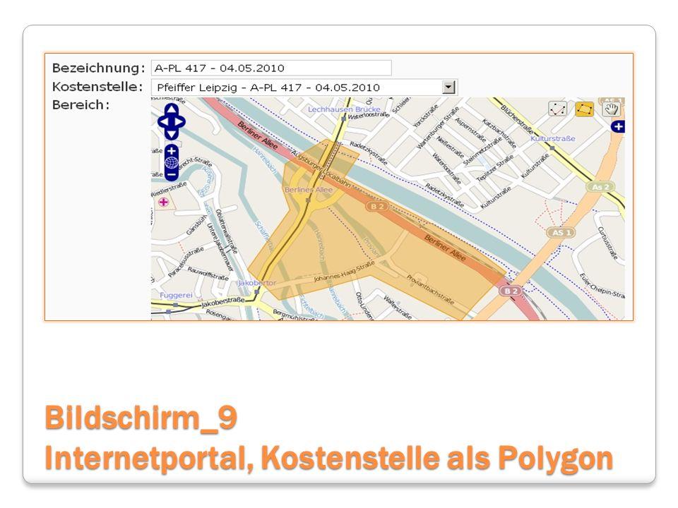 Bildschirm_9 Internetportal, Kostenstelle als Polygon