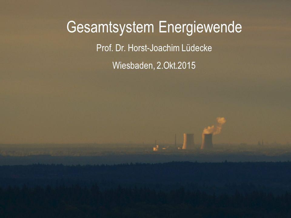 Gesamtsystem Energiewende Prof. Dr. Horst-Joachim Lüdecke Wiesbaden, 2.Okt.2015