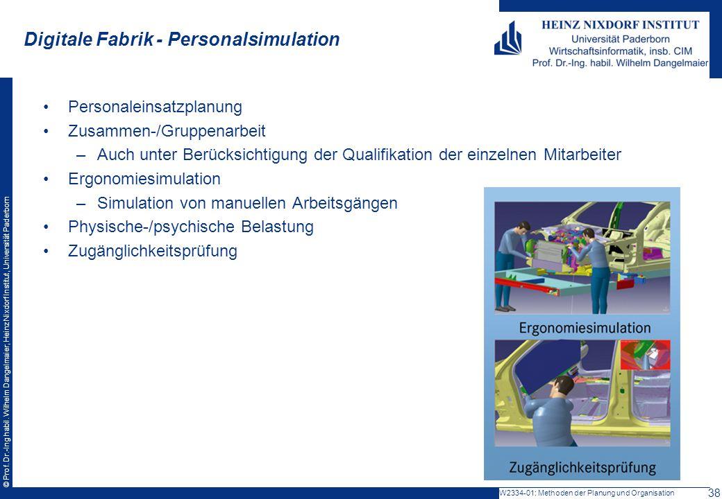 © Prof. Dr.-Ing habil. Wilhelm Dangelmaier, Heinz Nixdorf Institut, Universität Paderborn Personaleinsatzplanung Zusammen-/Gruppenarbeit –Auch unter B