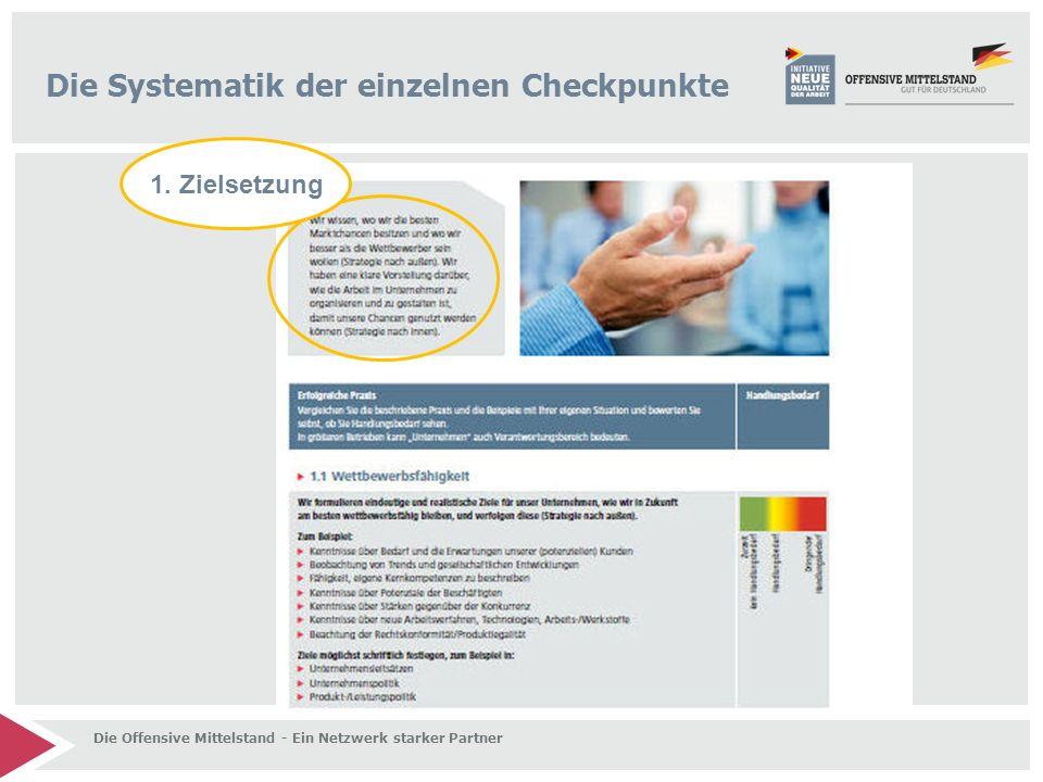 Die Systematik der einzelnen Checkpunkte 1.