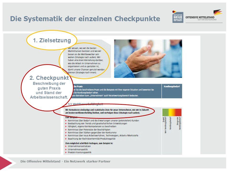Die Systematik der einzelnen Checkpunkte 2.