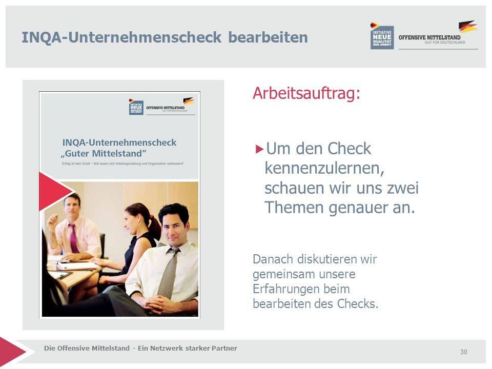 Arbeitsauftrag:  Um den Check kennenzulernen, schauen wir uns zwei Themen genauer an.