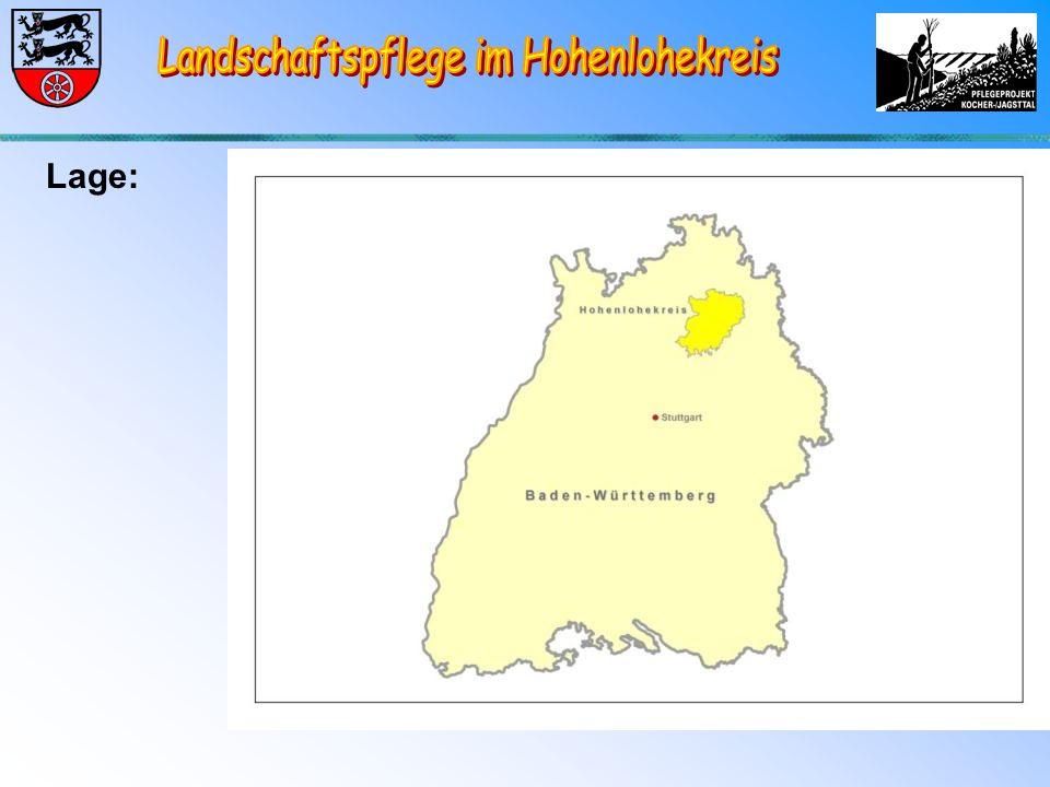 """Entwicklung Landschaftpflegeprojekt """"Trockenhänge im Kocher- und Jagsttal seit 1990 1500 ha Projektfläche, dabei ca.1200 ha Vertragsfläche Zusammenarbeit mit ca."""