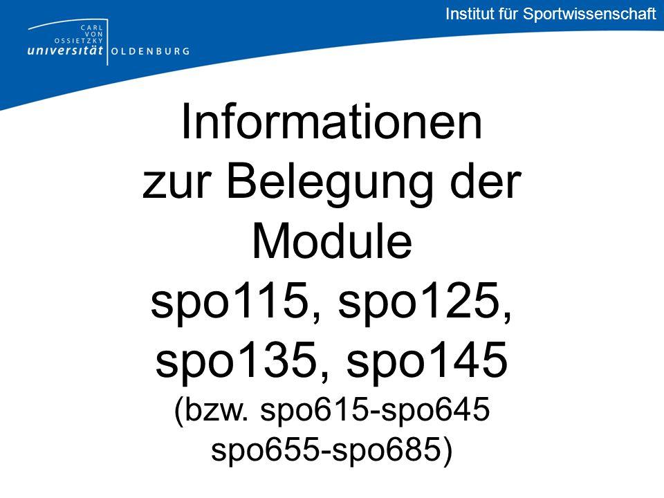 Informationen zur Belegung der Module spo115, spo125, spo135, spo145 (bzw.