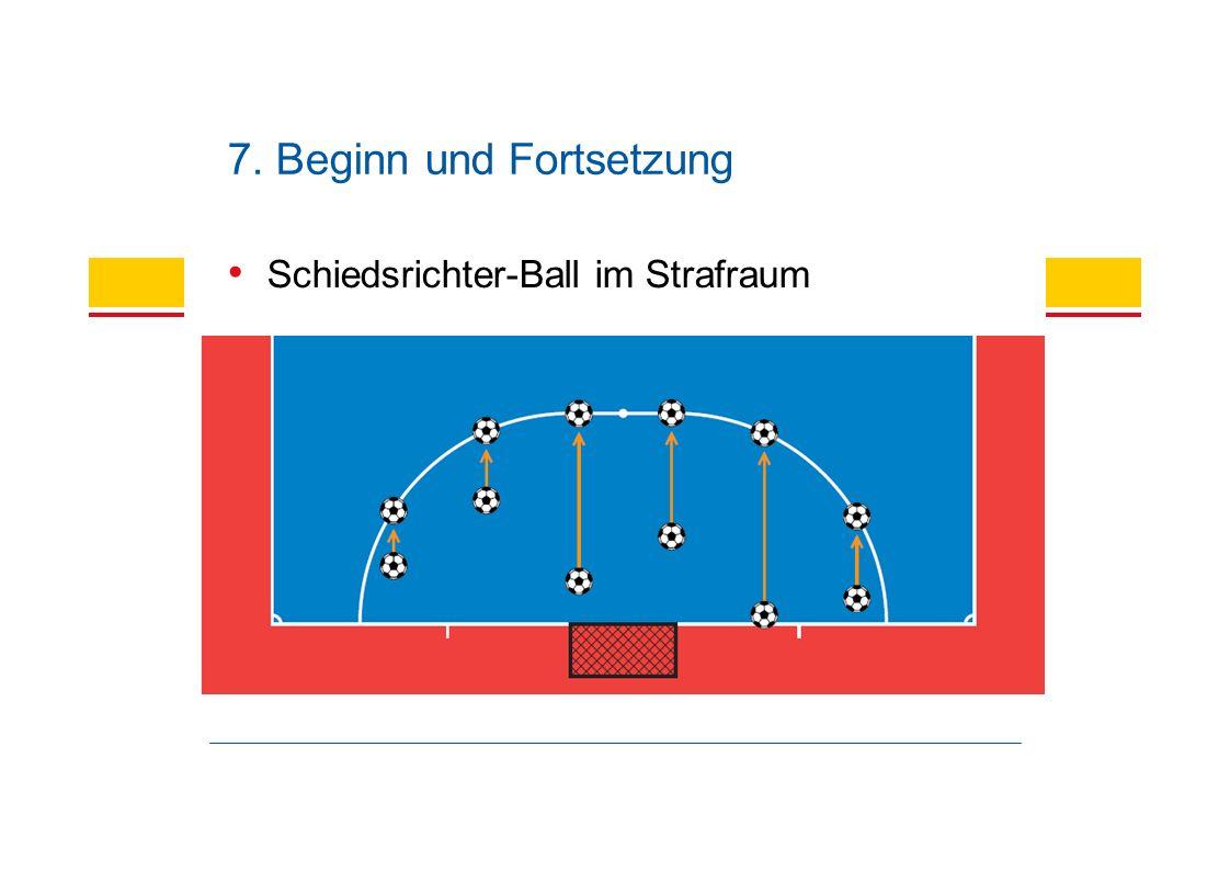 Schiedsrichter-Ball im Strafraum