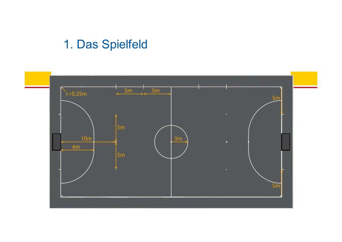 Abstand: Anstoß = 3 Meter Spielfortsetzungen = 5 Meter