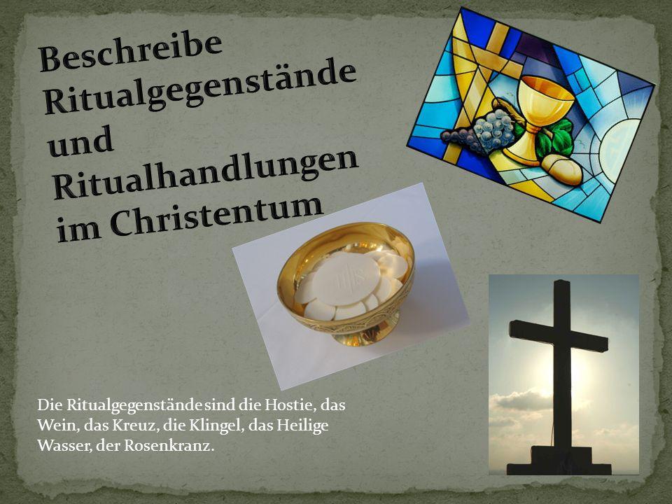 Wir glauben an Gott, Jesus Christus und Heilliger Geist.