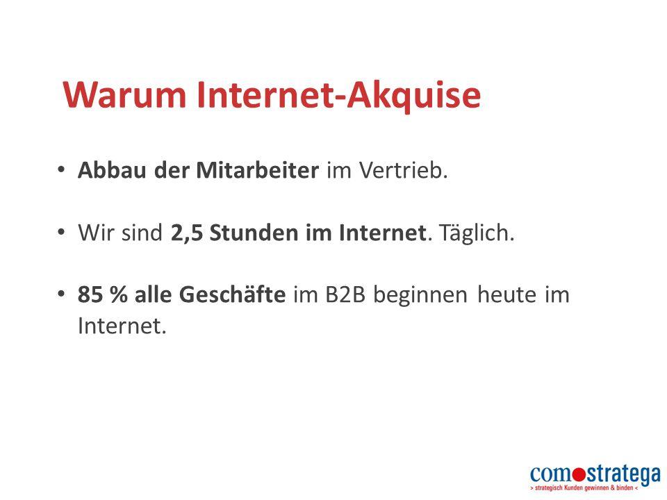 Warum Internet-Akquise Abbau der Mitarbeiter im Vertrieb.
