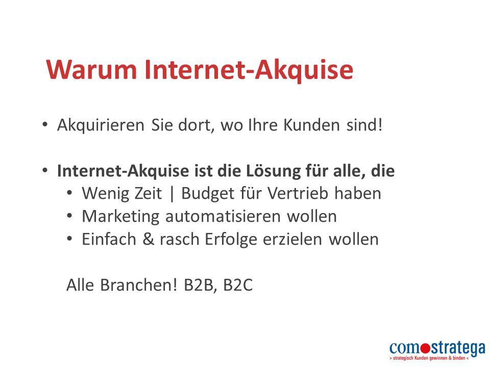 Warum Internet-Akquise Akquirieren Sie dort, wo Ihre Kunden sind.