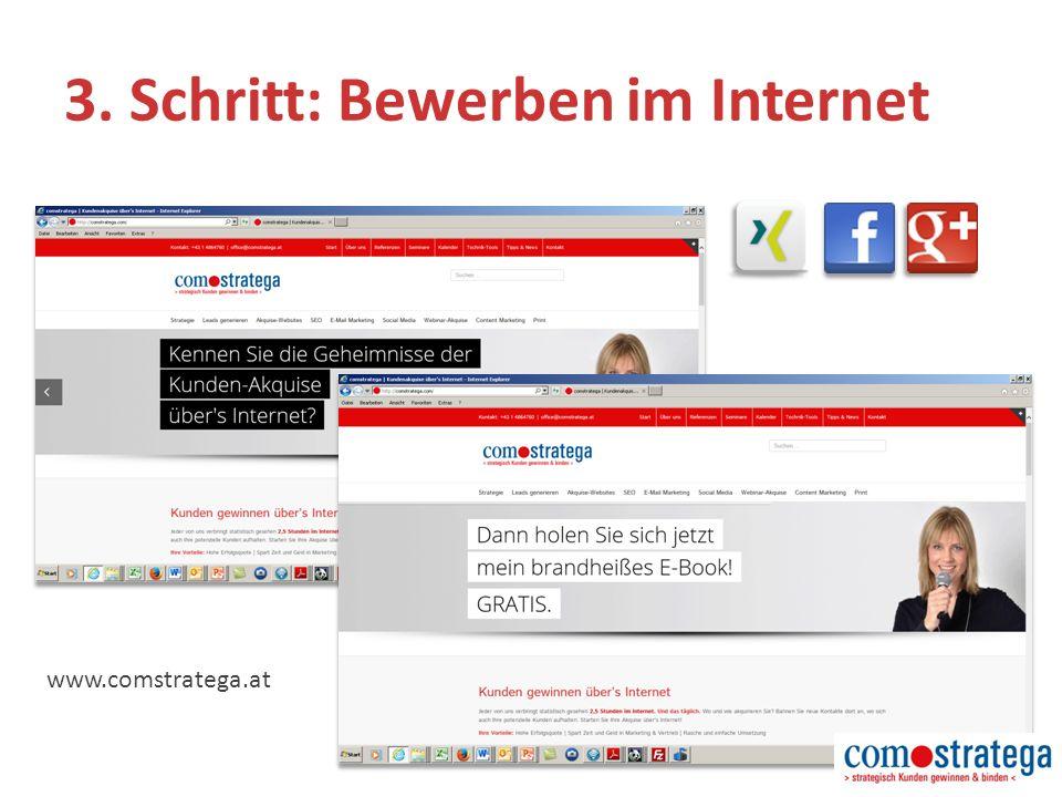 3. Schritt: Bewerben im Internet www.comstratega.at