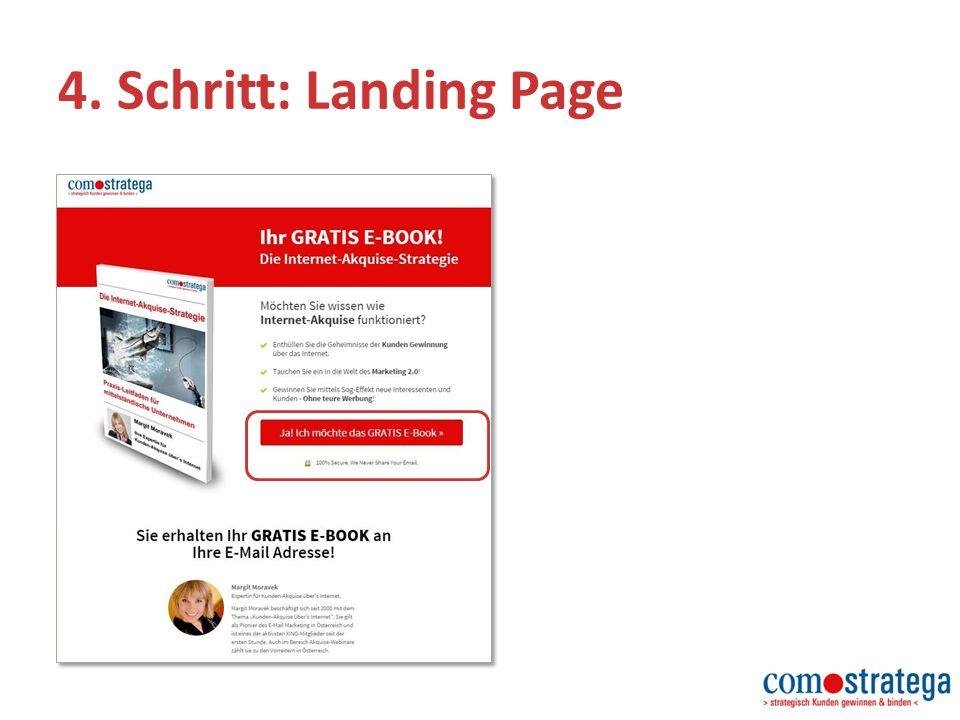 4. Schritt: Landing Page