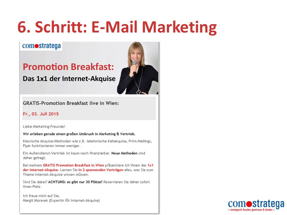 6. Schritt: E-Mail Marketing