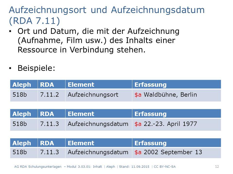 AlephRDAElementErfassung 518b7.11.2Aufzeichnungsort$a Waldbühne, Berlin Aufzeichnungsort und Aufzeichnungsdatum (RDA 7.11) Ort und Datum, die mit der