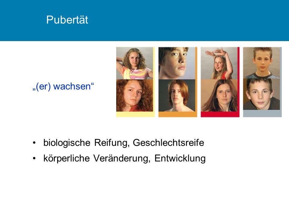 "Pubertät ""(er) wachsen"" biologische Reifung, Geschlechtsreife körperliche Veränderung, Entwicklung"