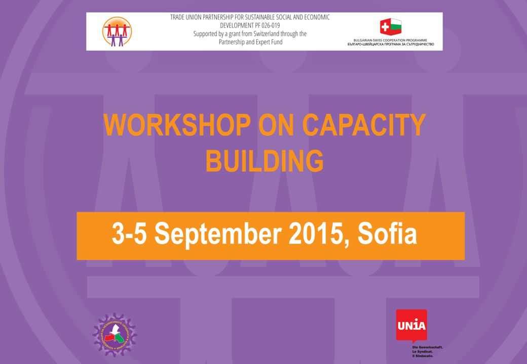 «Strength in Numbers» Successfully Recruiting Union-Members Workshop CITUB / Unia, Sofia, 03.