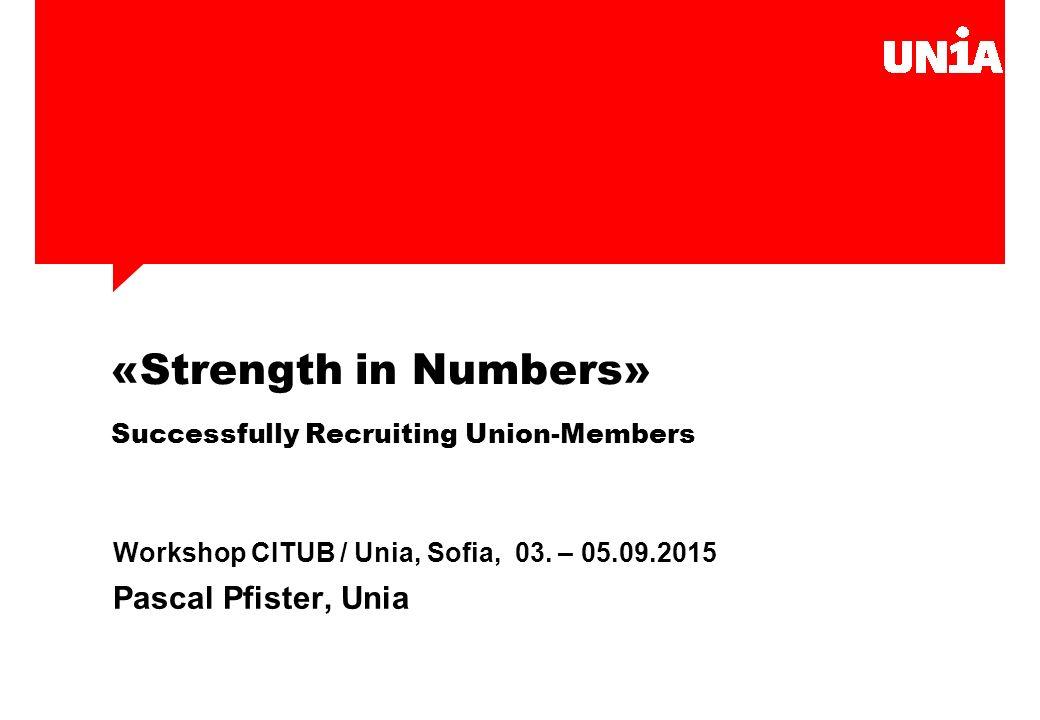 3 Recruitment Inhalt 1.Arten der Mitgliederwerbung innerhalb der Unia 2.Ein paar grundsätzliche Bemerkungen und Tipps 3.Was ist Unia.