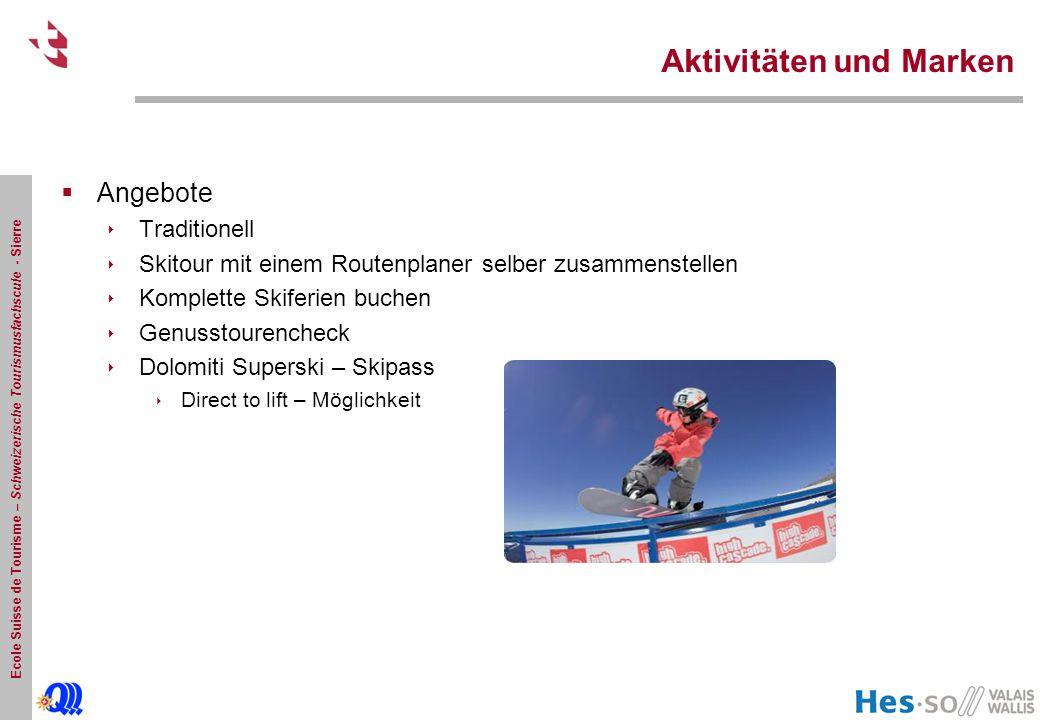 Ecole Suisse de Tourisme – Schweizerische Tourismusfachscule - Sierre Finanzen & Kennzahlen  Wintersaison 2008/09 Verkaufserhöhung von 5% trotz Preissteigerung von 5 %.