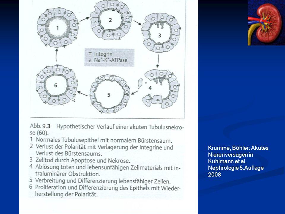 Krumme, Böhler: Akutes Nierenversagen in Kuhlmann et al. Nephrologie 5.Auflage 2008