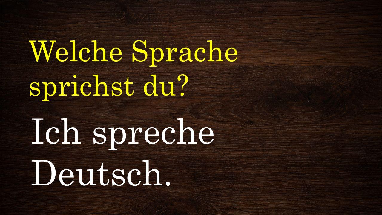 Welche Sprache sprichst du? Ich spreche Deutsch.