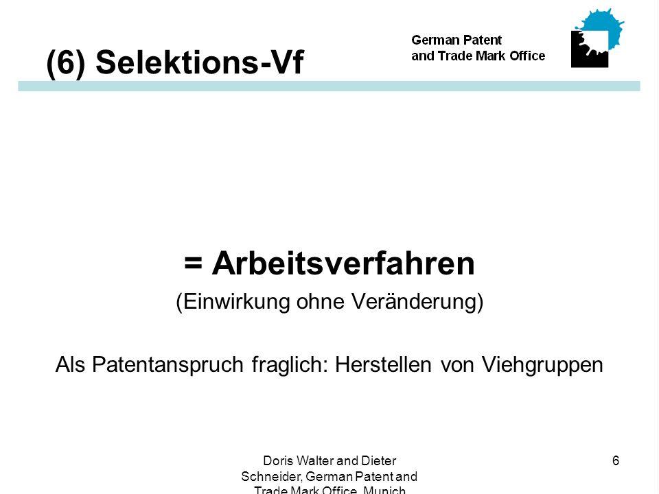 Doris Walter and Dieter Schneider, German Patent and Trade Mark Office, Munich 17 (17) Whose Game .