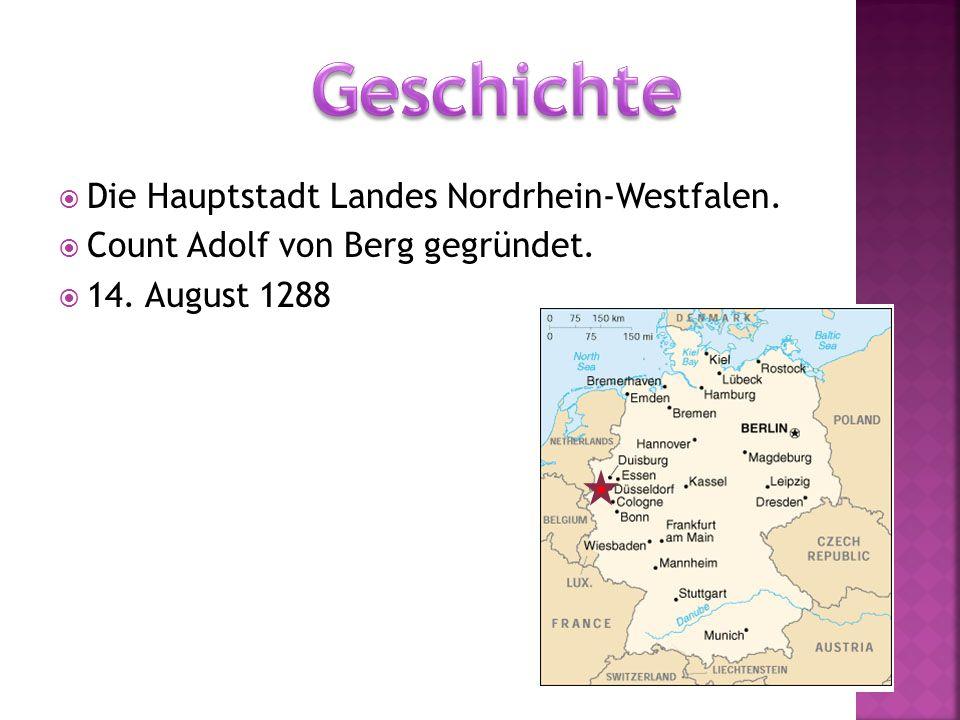  Die Hauptstadt Landes Nordrhein-Westfalen.  Count Adolf von Berg gegründet.  14. August 1288