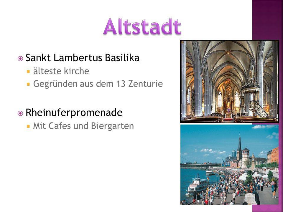  Sankt Lambertus Basilika  älteste kirche  Gegründen aus dem 13 Zenturie  Rheinuferpromenade  Mit Cafes und Biergarten