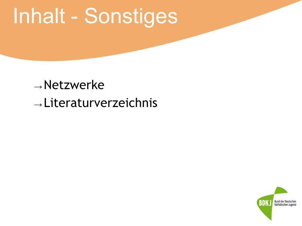 Inhalt - Sonstiges → Netzwerke → Literaturverzeichnis