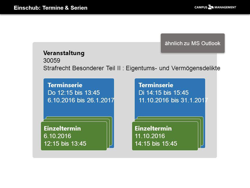 Einschub: Termine & Serien Einzeltermin 6.10.2016 12:15 bis 13:45 Einzeltermin 6.10.2016 12:15 bis 13:45 Einzeltermin 6.10.2016 12:15 bis 13:45 Termin